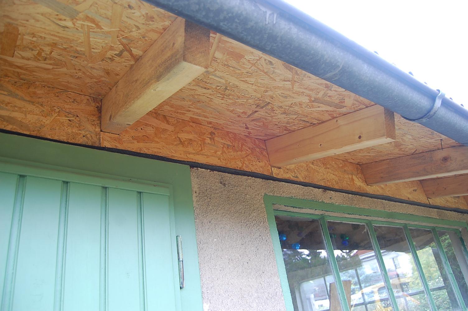 Dachbalken Verkleiden endlich wird zugemauert das reh im garten gartenblog